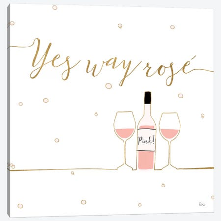 Underlined Bubbly VI Canvas Print #WAC8651} by Veronique Charron Canvas Wall Art