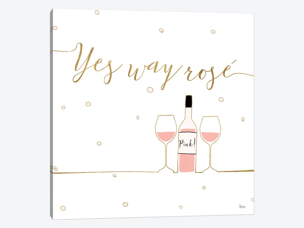 Underlined Bubbly VI by Veronique Charron 1-piece Canvas Print