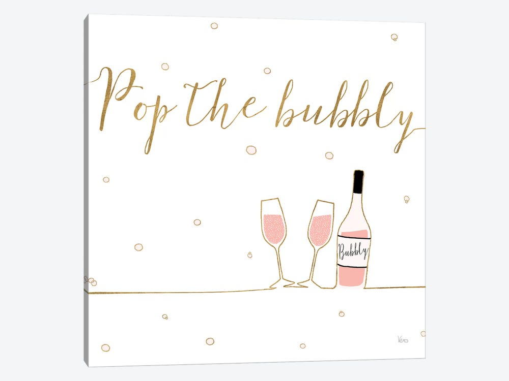 Underlined Bubbly VII by Veronique Charron 1-piece Canvas Wall Art