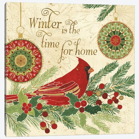 Winter Feathers V Canvas Print #WAC8658} by Veronique Charron Canvas Art