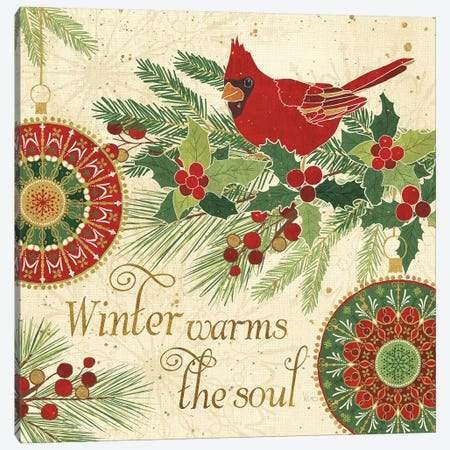 Winter Feathers VI Canvas Print #WAC8659} by Veronique Charron Canvas Wall Art