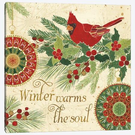 Winter Feathers VI Canvas Print #WAC8659} by Veronique Charron Canvas Wall Art