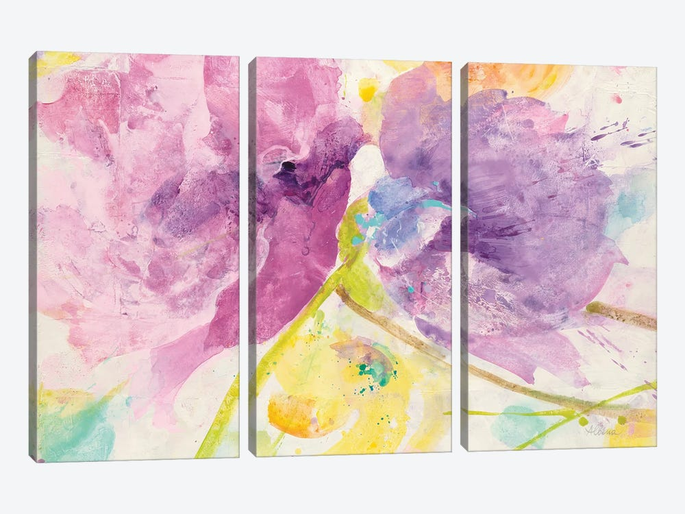 Spring Abstract Florals I by Albena Hristova 3-piece Canvas Art Print