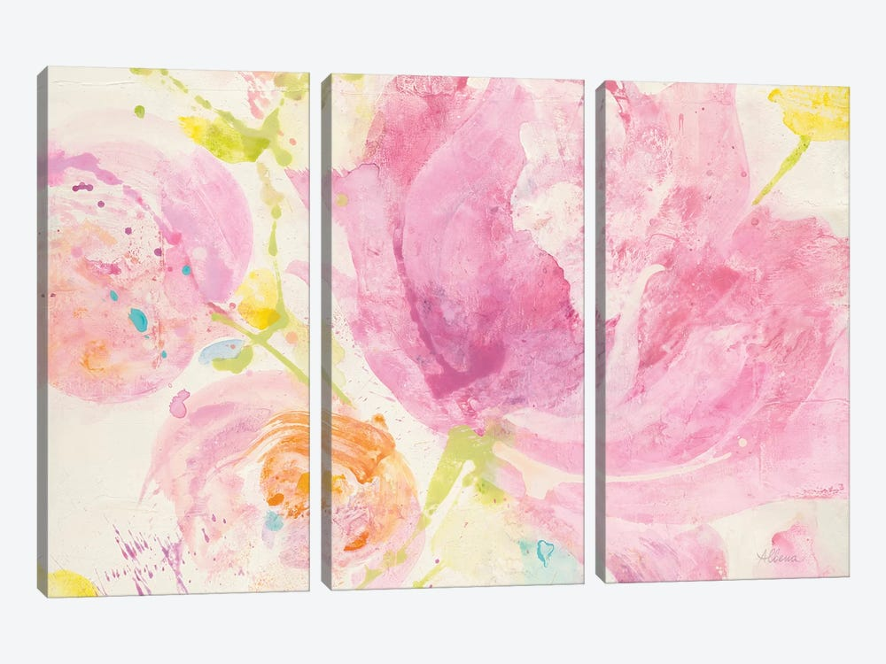 Spring Abstract Florals II by Albena Hristova 3-piece Canvas Wall Art