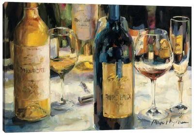 Bordeaux and Muscat by Marilyn Hageman Canvas Art Print