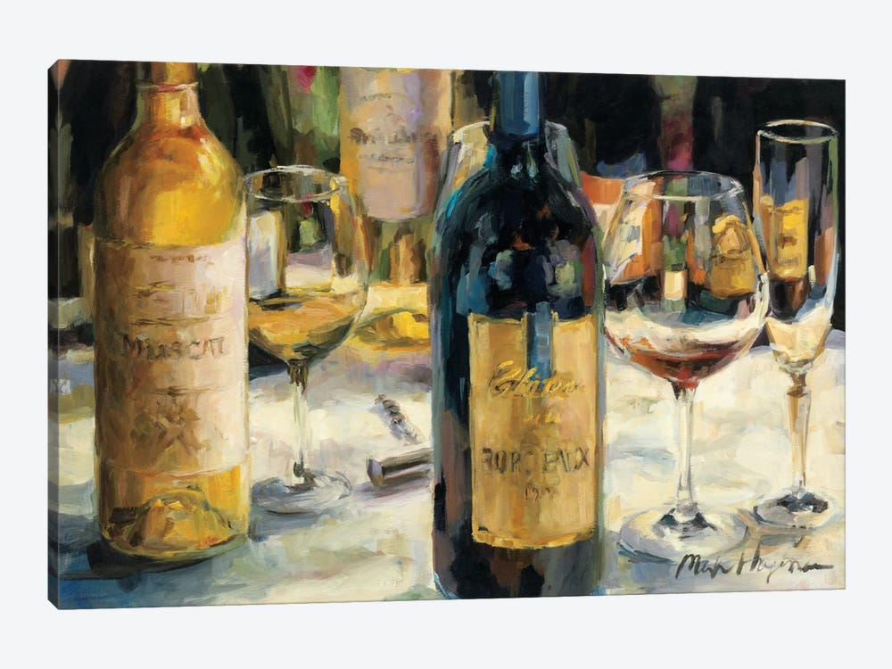 Bordeaux and Muscat by Marilyn Hageman 1-piece Canvas Art Print