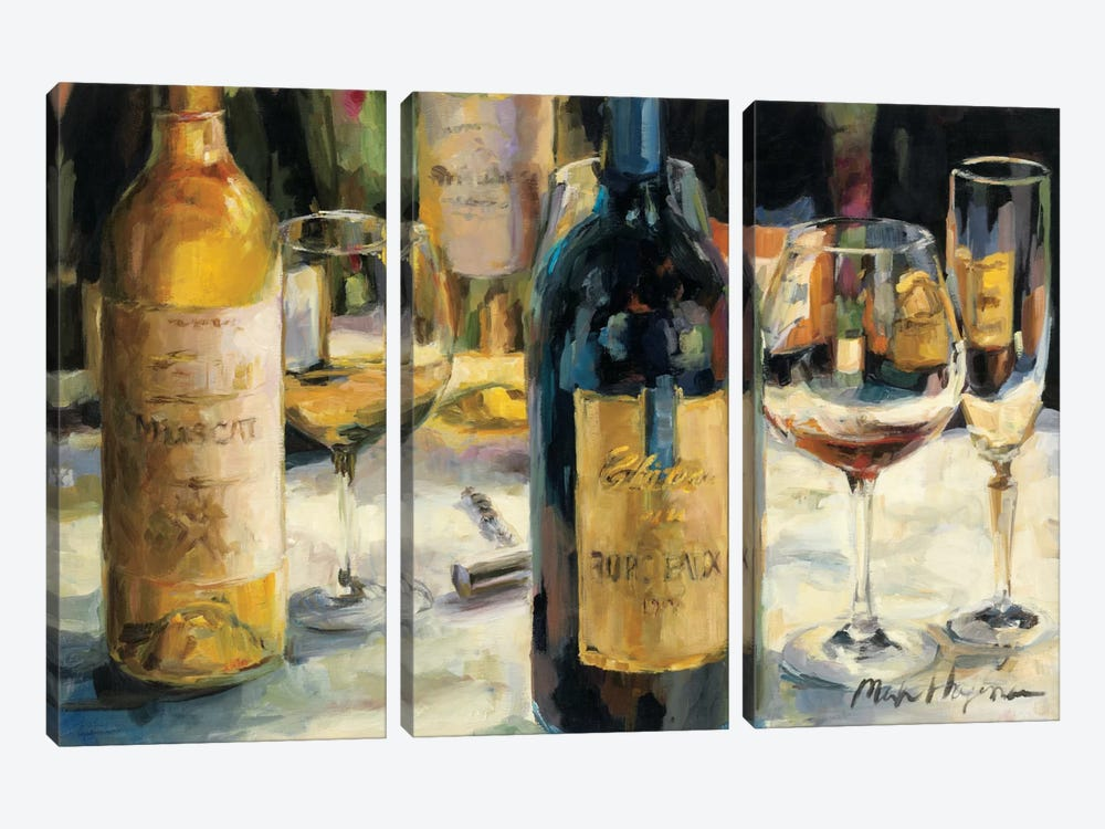 Bordeaux and Muscat by Marilyn Hageman 3-piece Art Print