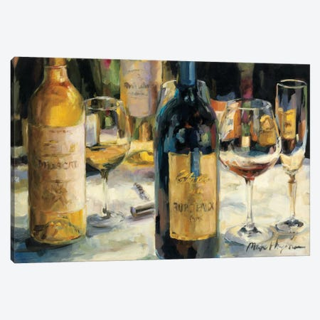 Bordeaux and Muscat 3-Piece Canvas #WAC866} by Marilyn Hageman Canvas Art Print
