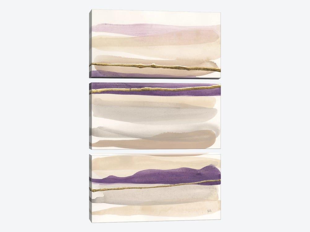 Gilded Amethyst II Crop by Chris Paschke 3-piece Canvas Art Print