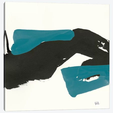 Minimal Panel I Teal Crop Canvas Print #WAC8672} by Chris Paschke Canvas Art