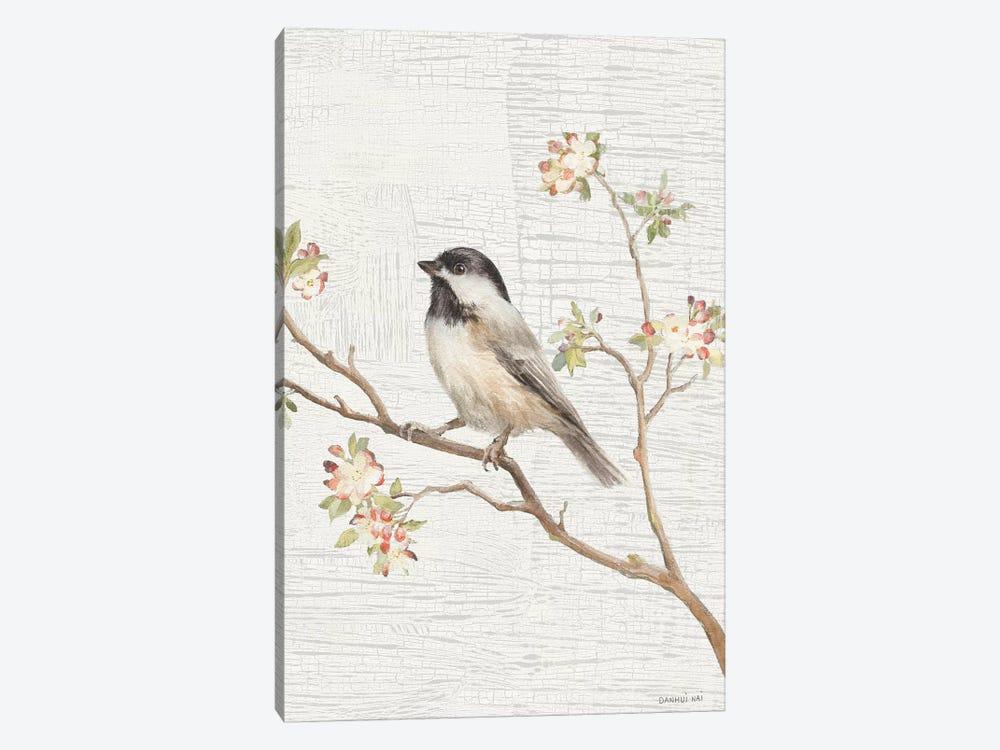 Black Capped Chickadee, Vintage by Danhui Nai 1-piece Canvas Art