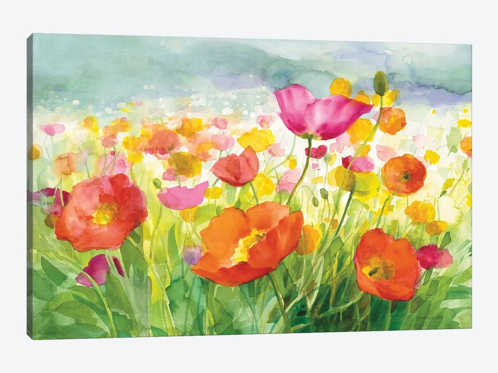 Meadow Poppies by Danhui Nai 1-piece Canvas Print