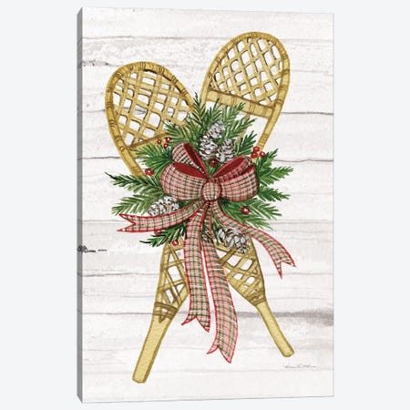 Holiday Sports I On White Wood Canvas Print #WAC8693} by Kathleen Parr McKenna Canvas Wall Art