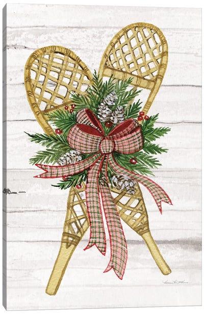 Holiday Sports I On White Wood Canvas Art Print