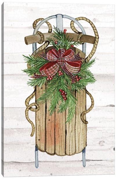 Holiday Sports II On White Wood Canvas Art Print