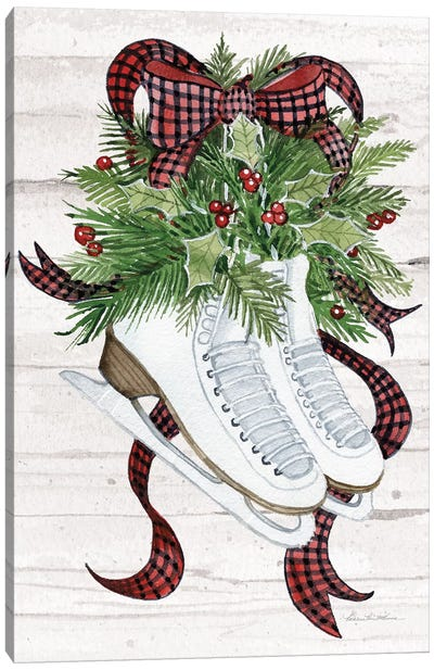 Holiday Sports III On White Wood Canvas Art Print