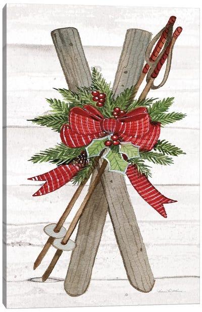 Holiday Sports IV On White Wood Canvas Art Print