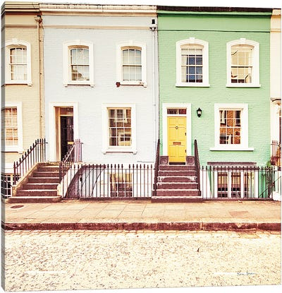 Chelsea Houses All Lined Up Canvas Art Print