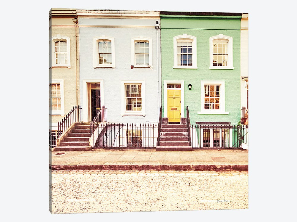 Chelsea Houses All Lined Up by Keri Bevan 1-piece Canvas Art