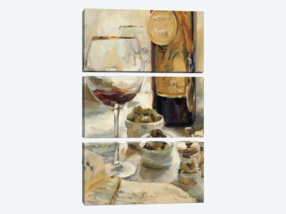 Award Winning Wine I by Marilyn Hageman 3-piece Canvas Wall Art