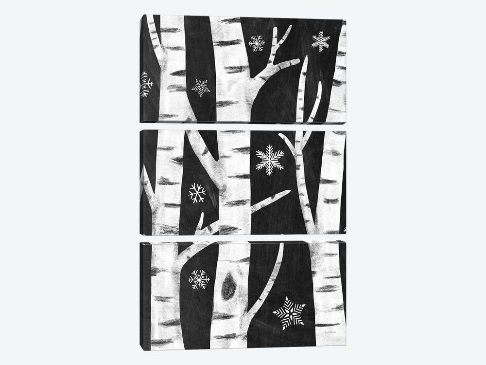 Snowy Birches I by Mary Urban 3-piece Canvas Art