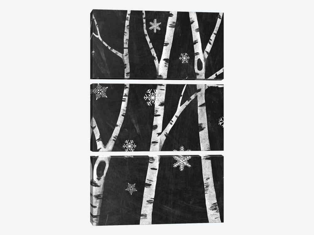 Snowy Birches III by Mary Urban 3-piece Art Print