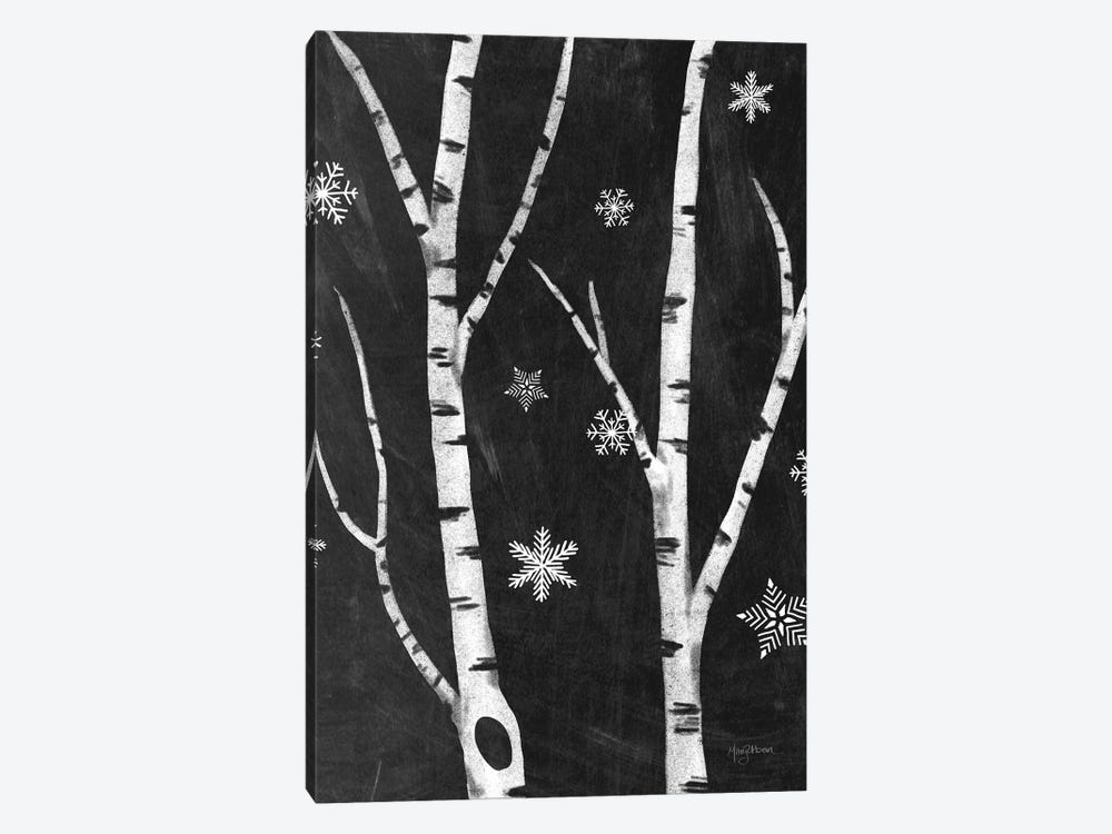 Snowy Birches IV by Mary Urban 1-piece Canvas Wall Art