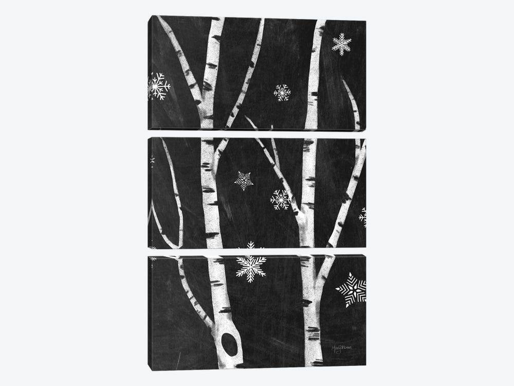 Snowy Birches IV by Mary Urban 3-piece Canvas Artwork