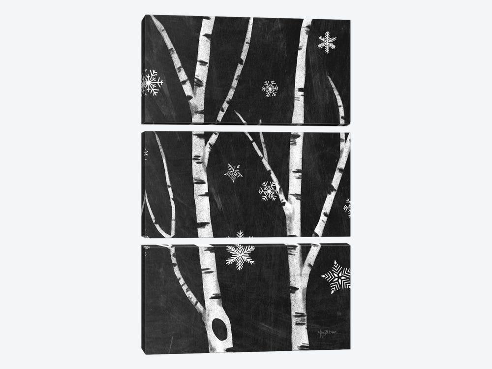 Snowy Birches IV by Mary Urban 3-piece Canvas Artwork