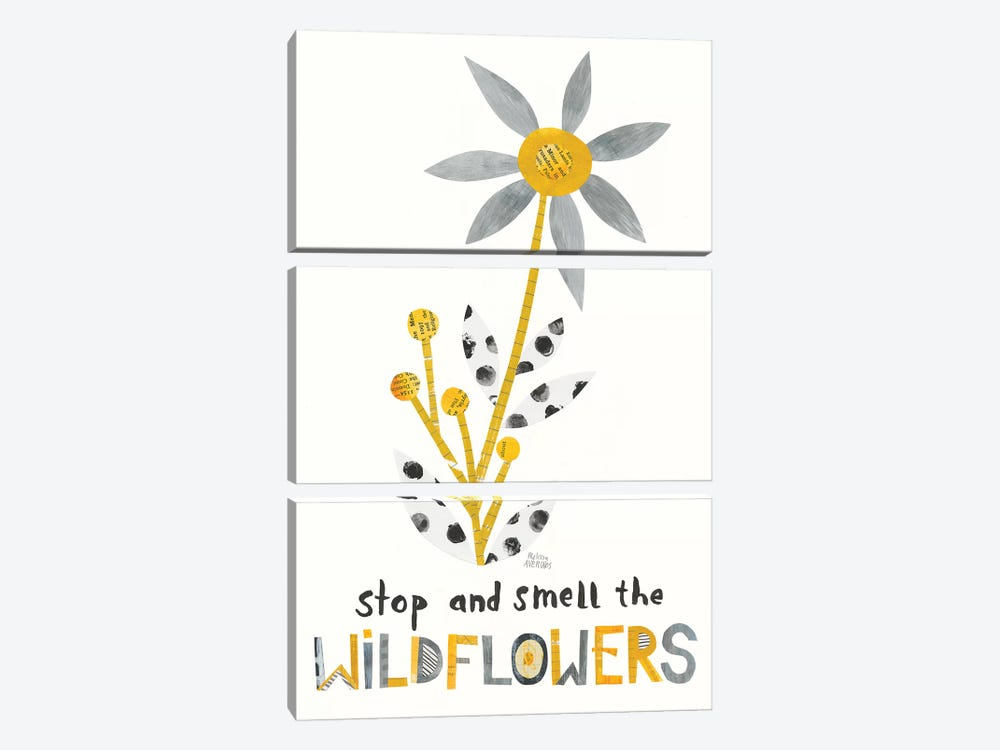 Bloom Boldly III by Melissa Averinos 3-piece Canvas Print