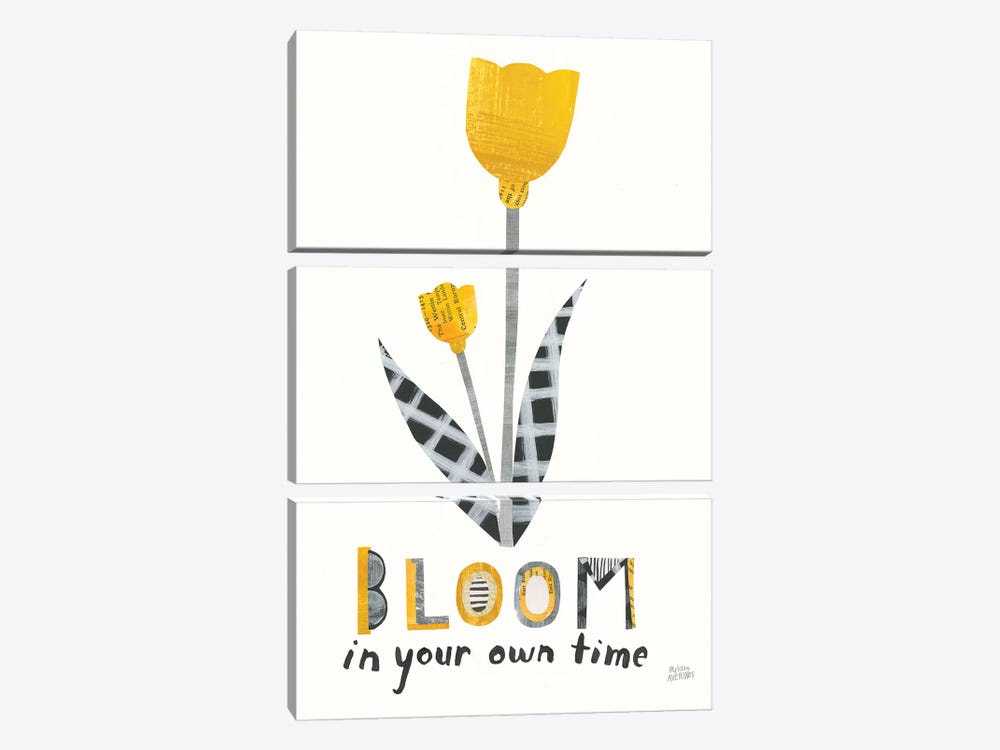 Bloom Boldly IV by Melissa Averinos 3-piece Canvas Wall Art
