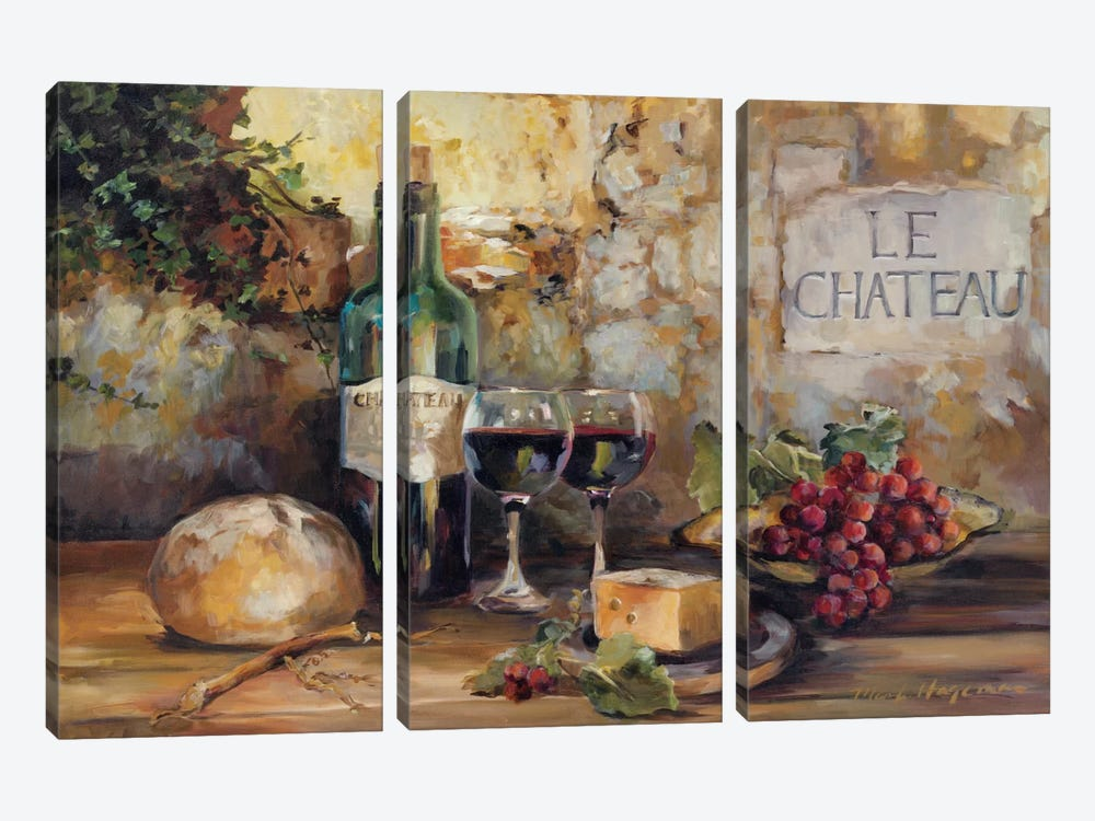 Le Chateau by Marilyn Hageman 3-piece Canvas Art Print