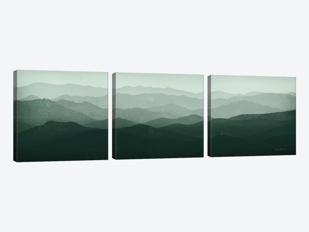Green Mountains by Ryan Fowler 3-piece Canvas Wall Art
