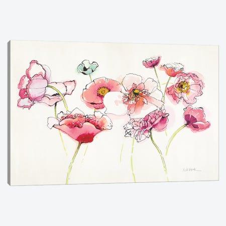 Pink Somniferums Bright II Canvas Print #WAC8723} by Shirley Novak Canvas Art