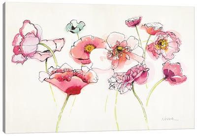 Pink Somniferums Bright II Canvas Art Print