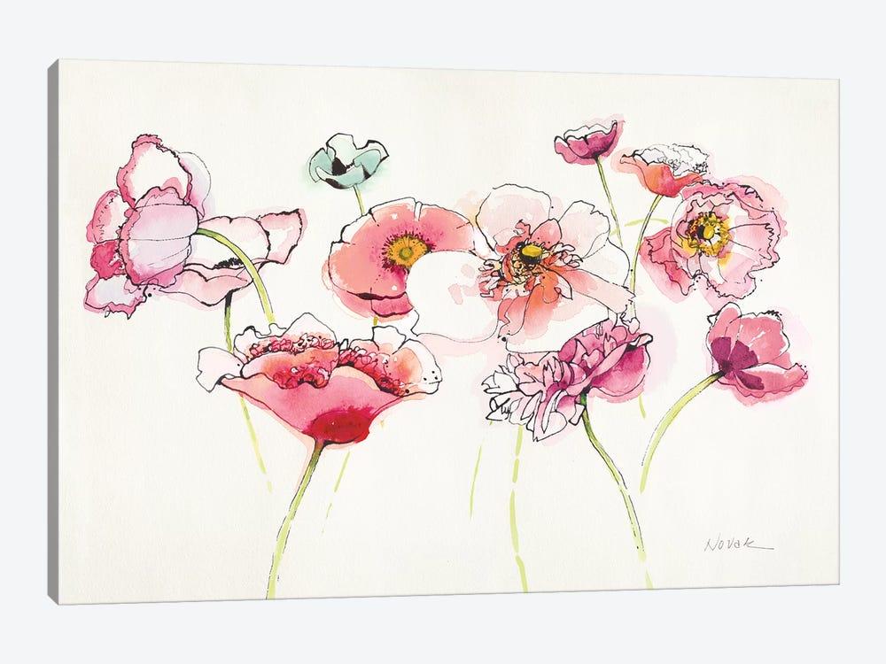 Pink Somniferums Bright II by Shirley Novak 1-piece Canvas Print