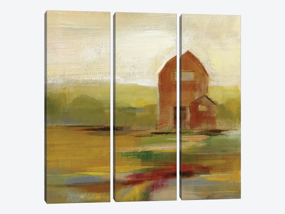 Hillside Barn II by Silvia Vassileva 3-piece Canvas Print