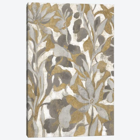 Painted Tropical Screen I Gray Gold Canvas Print #WAC8729} by Silvia Vassileva Canvas Art