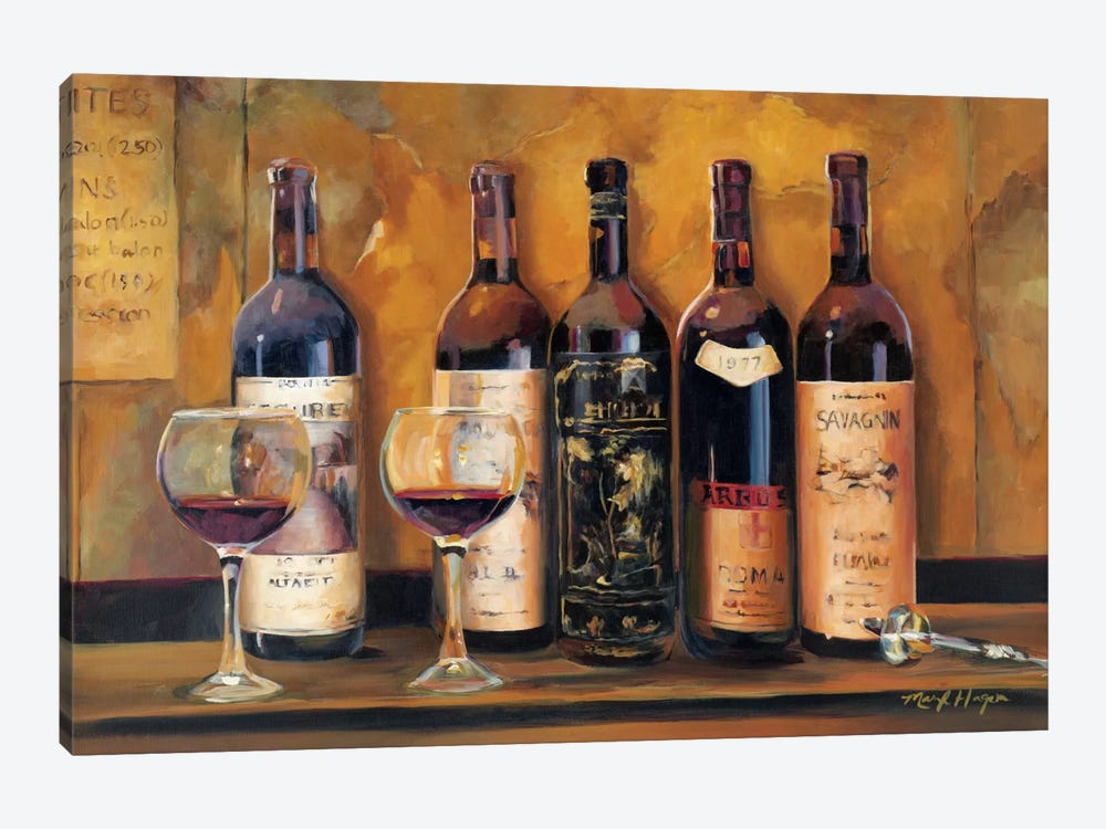 Cellar Reds by Marilyn Hageman 1-piece Canvas Art