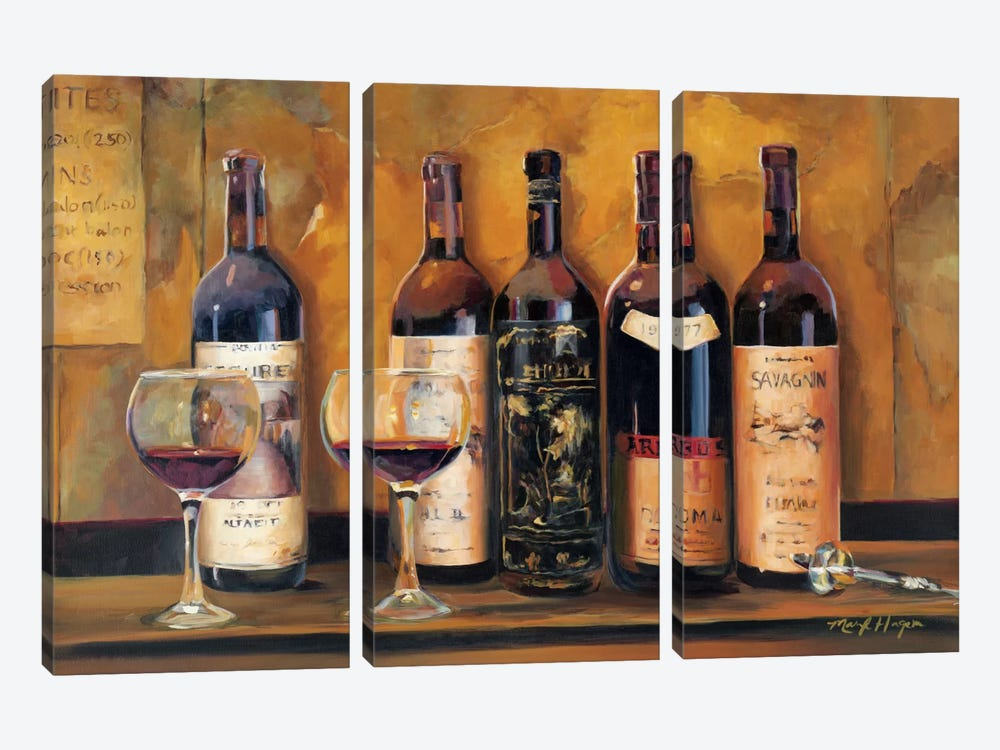Cellar Reds by Marilyn Hageman 3-piece Canvas Art