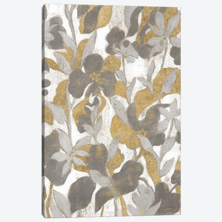 Painted Tropical Screen II Gray Gold Canvas Print #WAC8731} by Silvia Vassileva Canvas Print