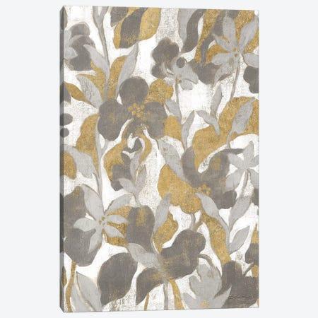 Painted Tropical Screen II Gray Gold 3-Piece Canvas #WAC8731} by Silvia Vassileva Canvas Print