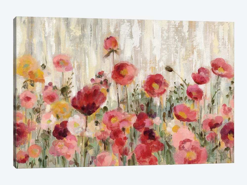 Sprinkled Flowers 1-piece Canvas Art Print