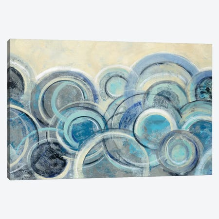 Variation Blue Canvas Print #WAC8733} by Silvia Vassileva Art Print