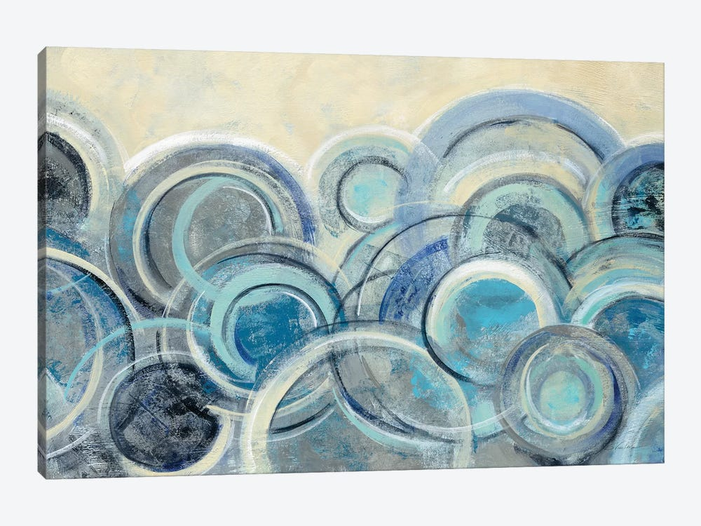 Variation Blue by Silvia Vassileva 1-piece Canvas Art