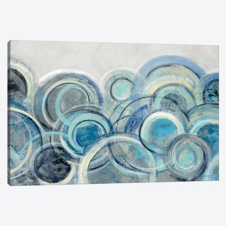 Variation Blue Grey Canvas Print #WAC8734} by Silvia Vassileva Canvas Wall Art