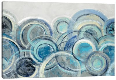 Variation Blue Grey Canvas Art Print