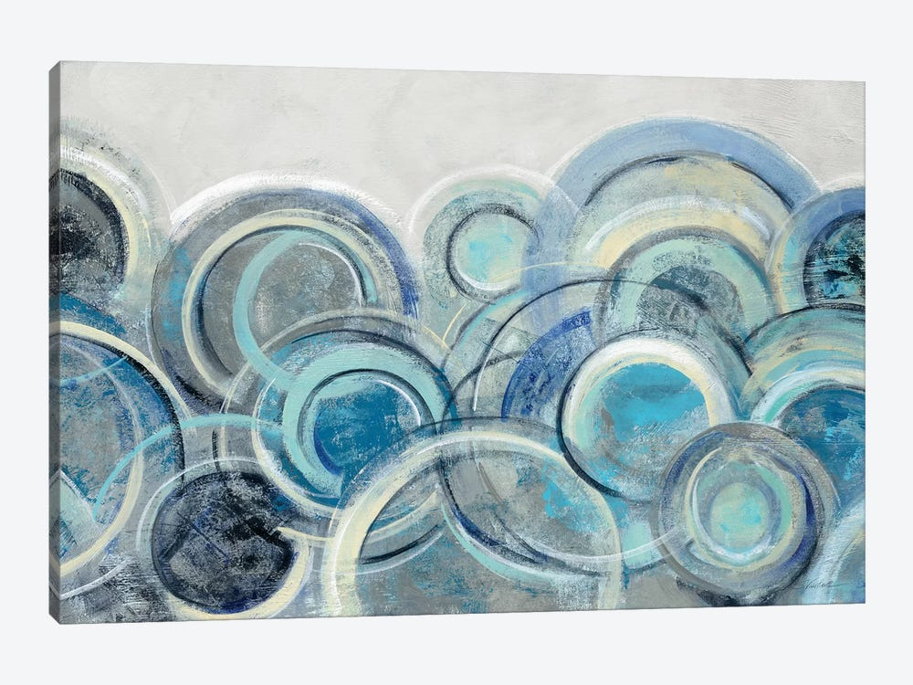 Variation Blue Grey by Silvia Vassileva 1-piece Canvas Art Print