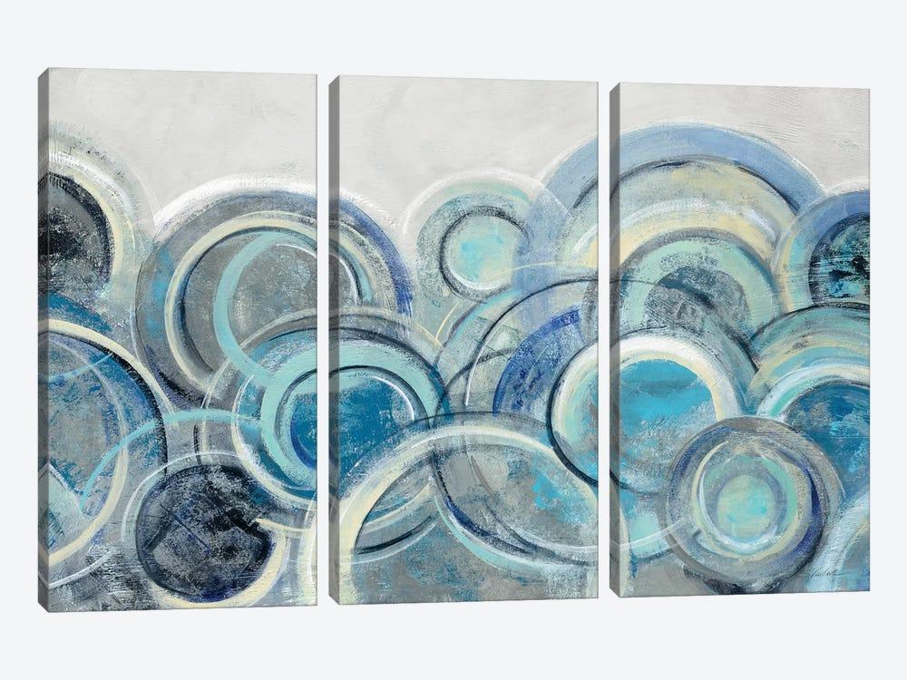 Variation Blue Grey by Silvia Vassileva 3-piece Art Print