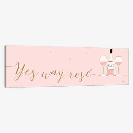 Underlined Bubbly II Pink 3-Piece Canvas #WAC8742} by Veronique Charron Canvas Wall Art